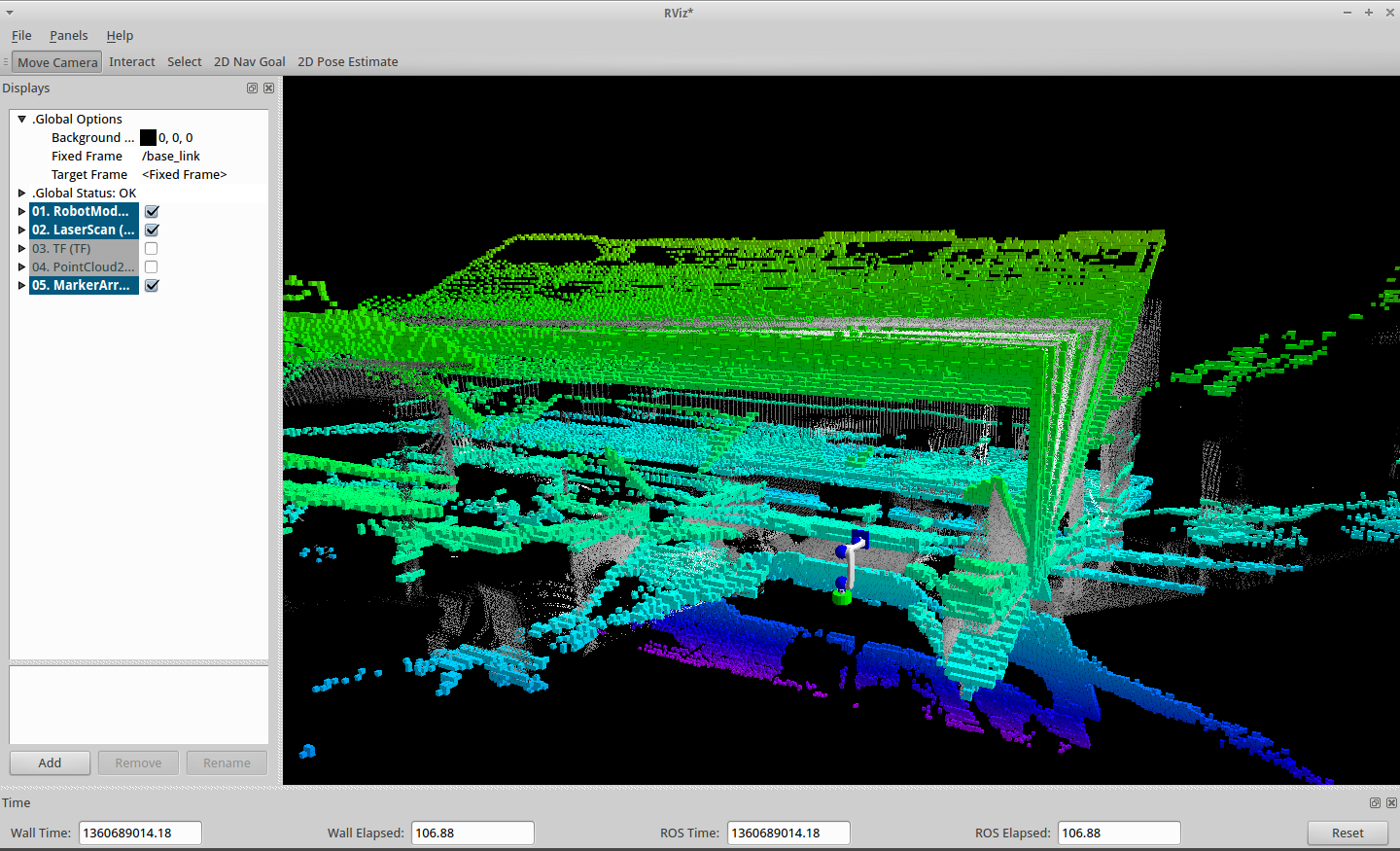 Laser scan to point cloud to octomap - strange result - ROS Answers