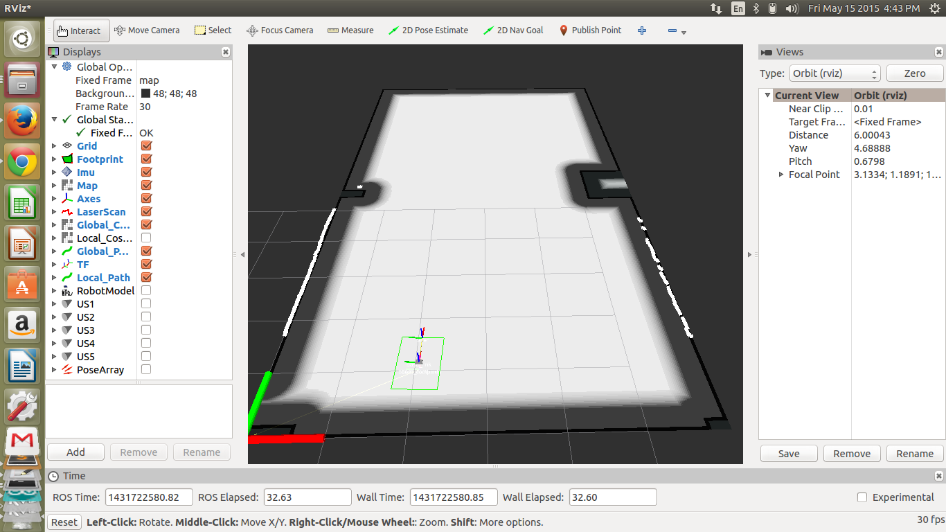 IMU drift causing robot to drift in RVIZ - ROS Answers: Open Source