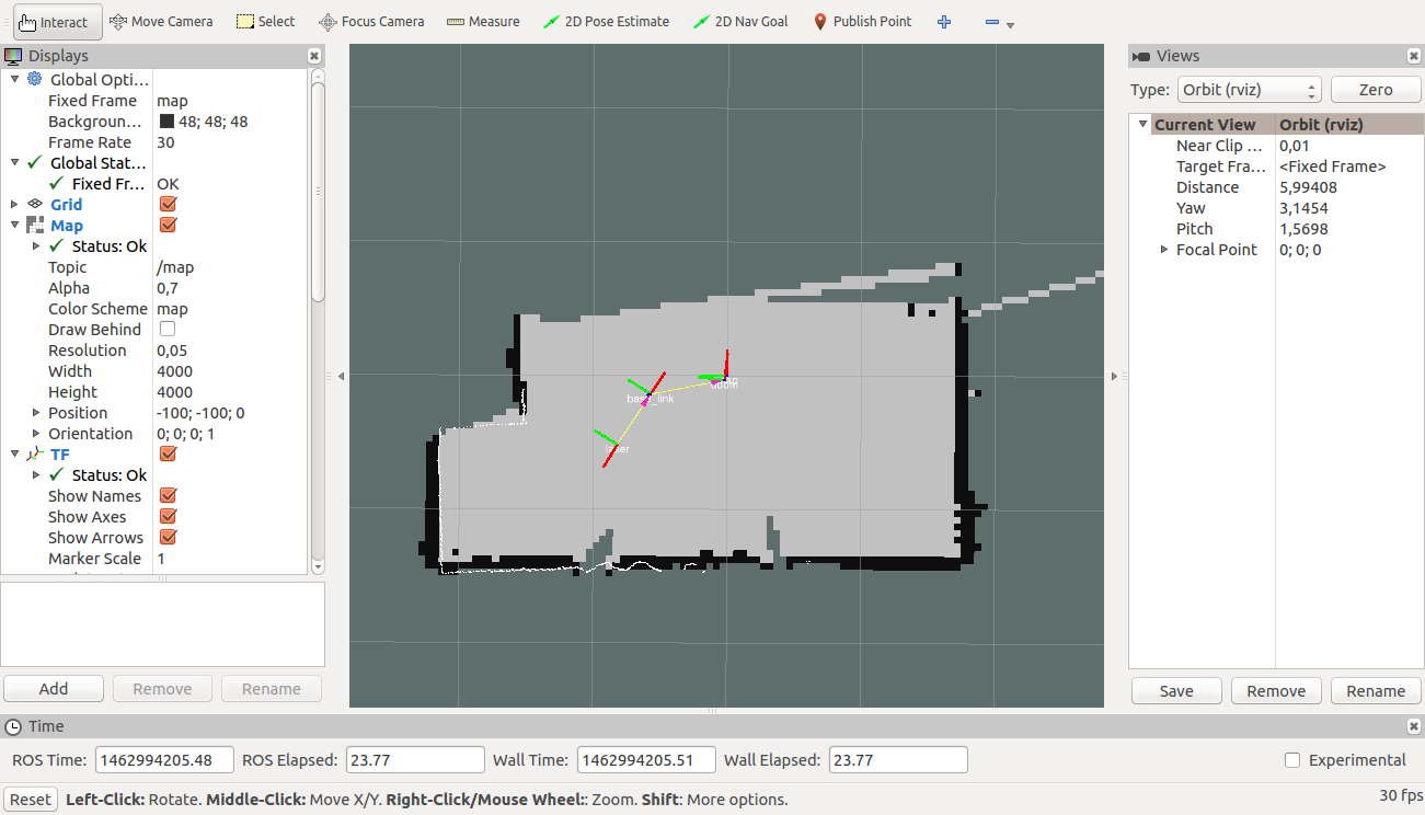 Visualize robot in gmapping - ROS Answers: Open Source Q&A Forum