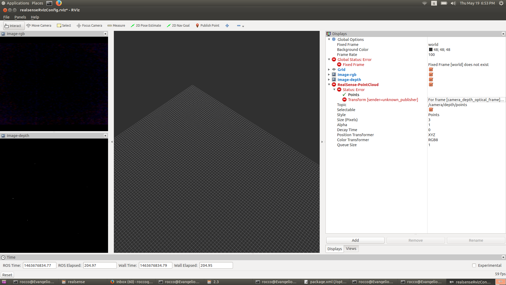 How to build a 3D view with RealSense R200 - ROS Answers: Open