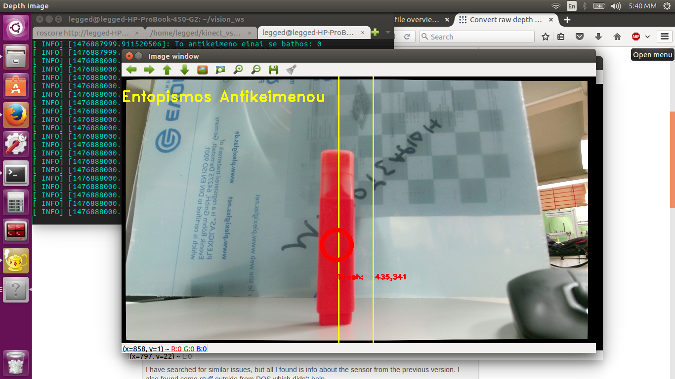 Convert raw depth data from depth image to meters (Kinect v2) - ROS